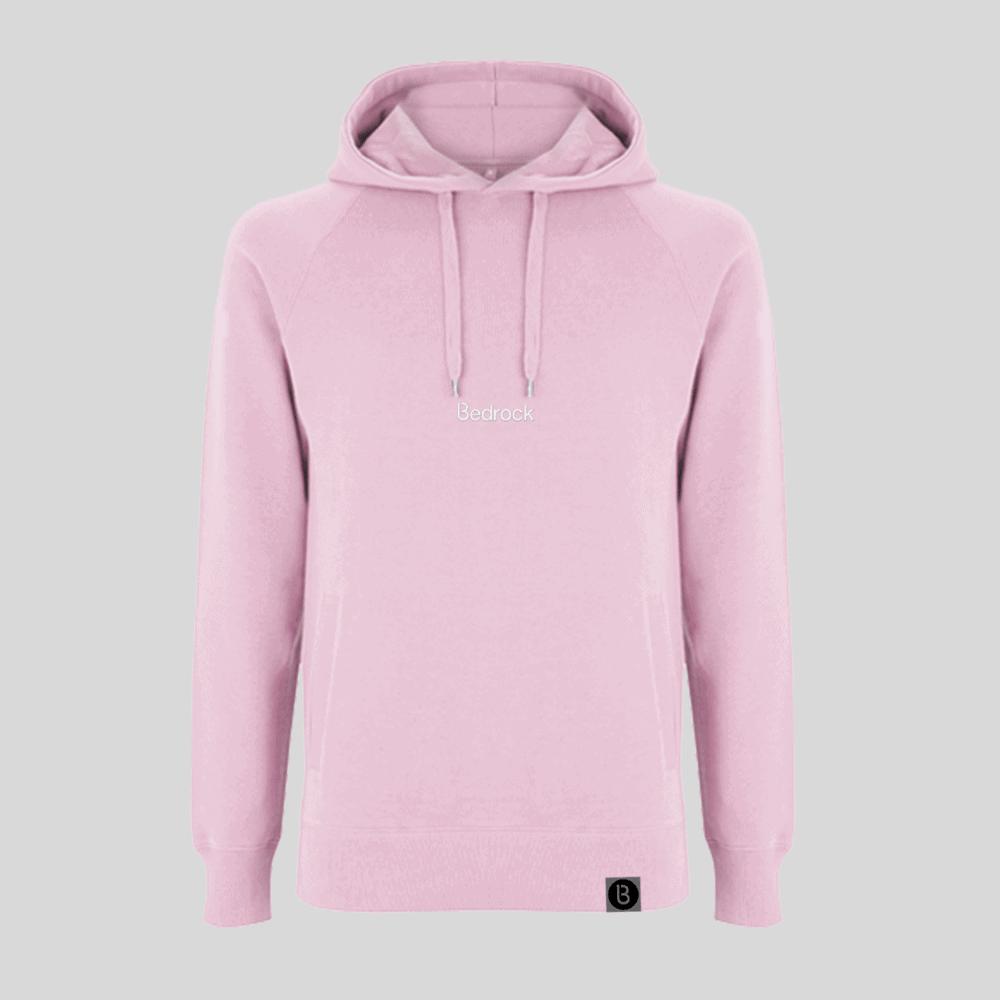 Buy Online Bedrock Music - Bedrock Embroidered Light Pink Hoodie