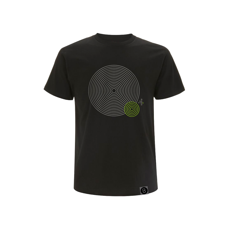 Buy Online Bedrock Music - Quattro II Mens Black T-Shirt