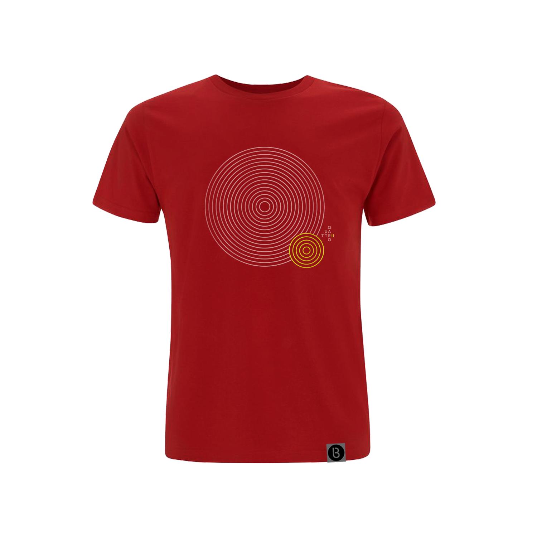 Buy Online Bedrock Music - Quattro II Mens Red T-Shirt