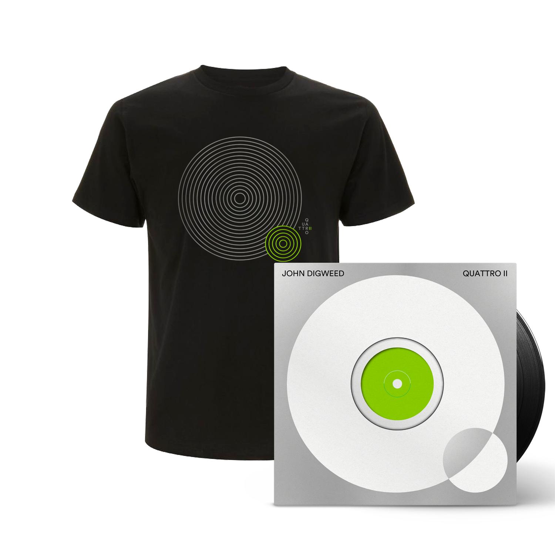 Buy Online Bedrock Music - Quattro II 5 x Vinyl (Signed, Numbered) + Mens Black T-Shirt