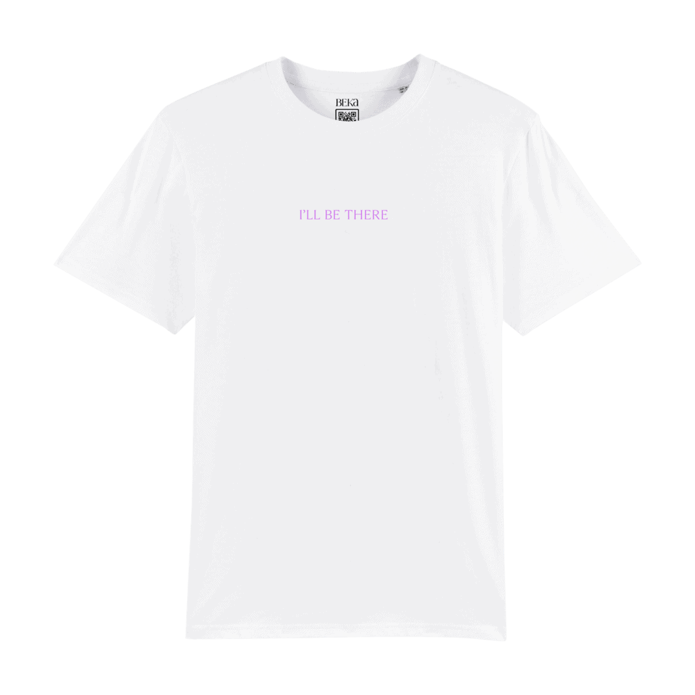 Buy Online BEKA - 'I'LL BE THERE' T-SHIRT EMBROIDERED Purple
