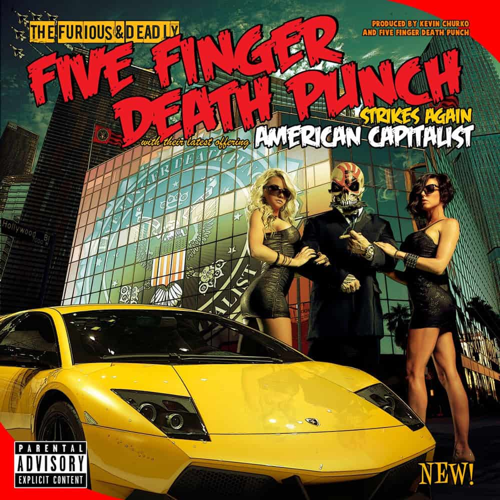 Buy Online Five Finger Death Punch - American Capitalist