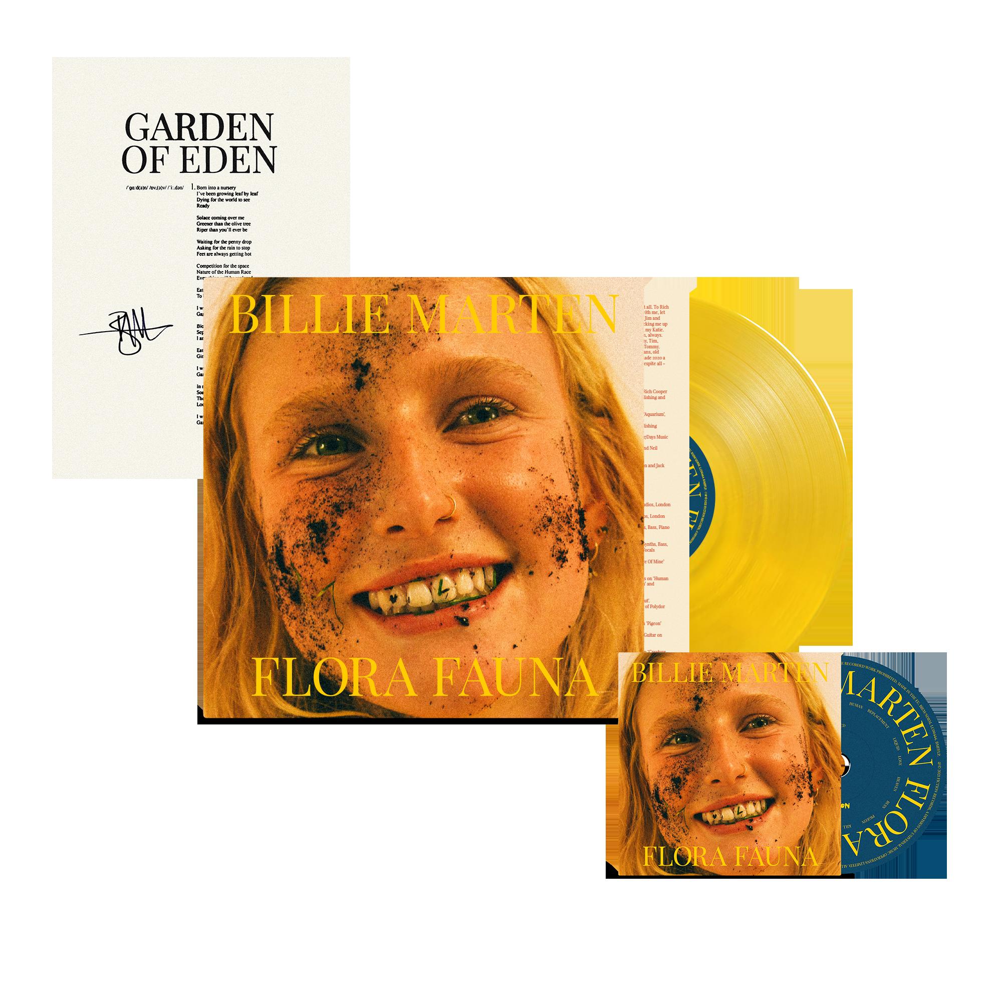 Flora Fauna CD + Transparent Sun Yellow Vinyl + Signed Lyric Sheet