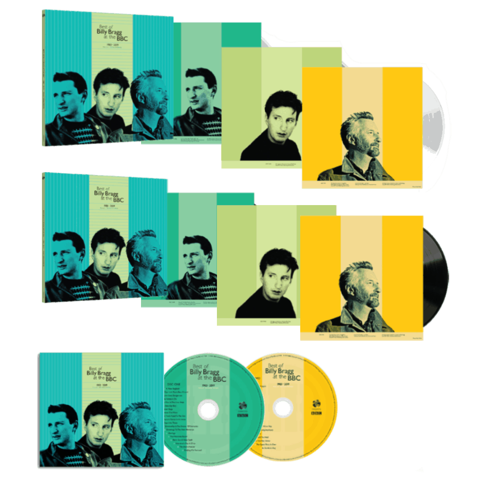 Buy Online Billy Bragg - Best Of BB At BBC Double CD + Triple 180g White Vinyl + Triple 180g Black Vinyl + Limited Edition Signed 12x12 Art Print