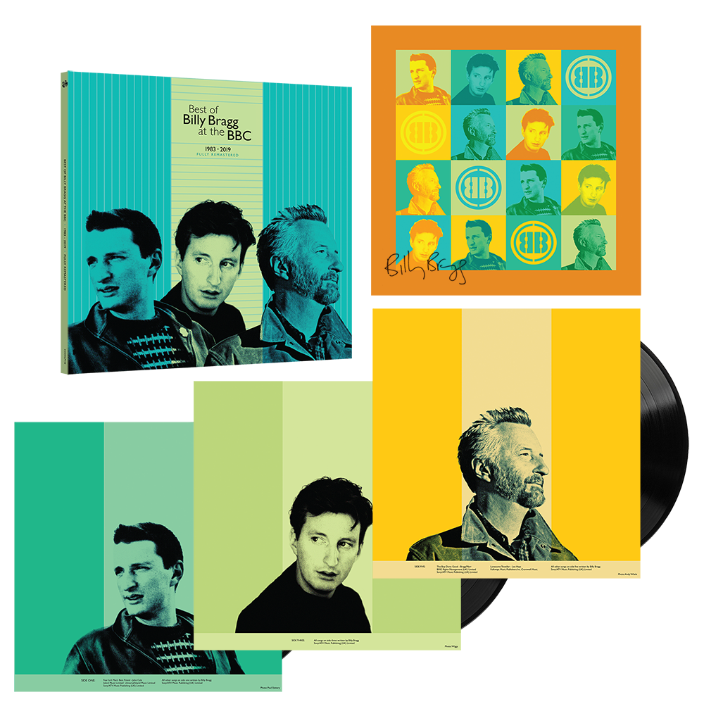 Buy Online Billy Bragg - Best Of BB At BBC Triple Black  + Limited Edition Signed 12x12 Art Print