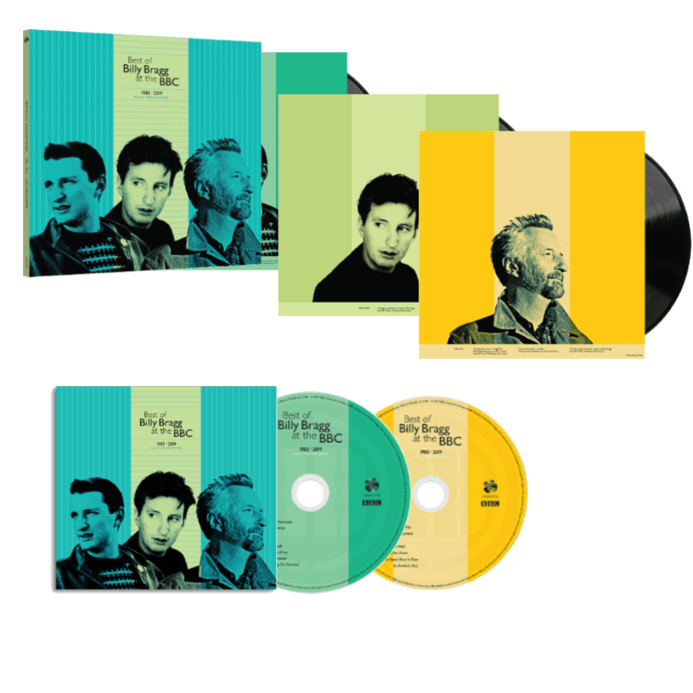 Buy Online Billy Bragg - Best Of BB At BBC Double CD + Triple 180g Black Vinyl  + Limited Edition Signed 12x12 Art Print