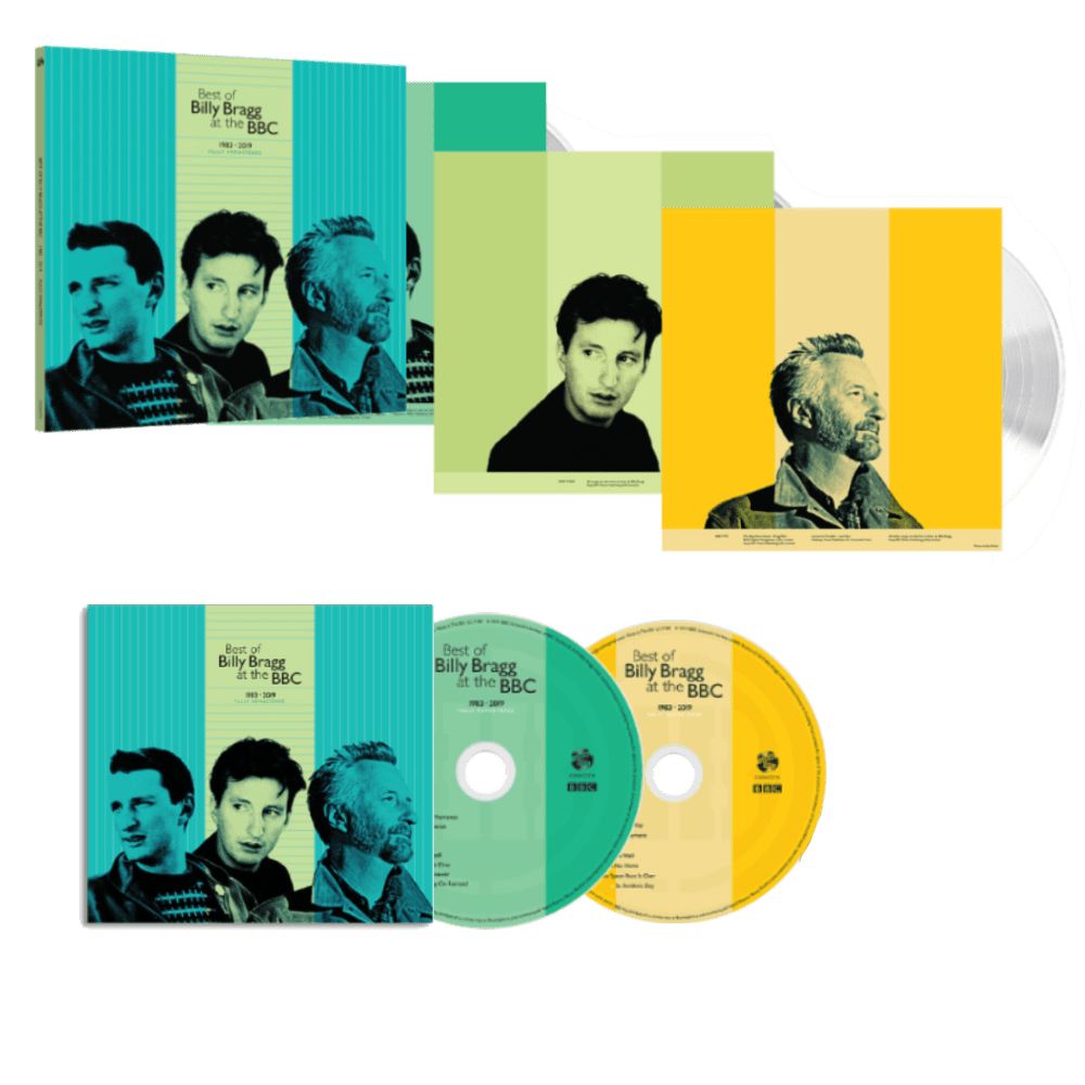 Buy Online Billy Bragg - Best Of BB At BBC Double CD + Triple 180g White Vinyl +  Limited Edition Signed 12x12 Art Print