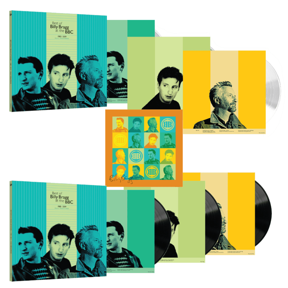 Buy Online Billy Bragg - Best Of BB At BBC Triple 180g White Vinyl + Triple 180g Black Vinyl + Limited Edition Signed 12x12 Art Print