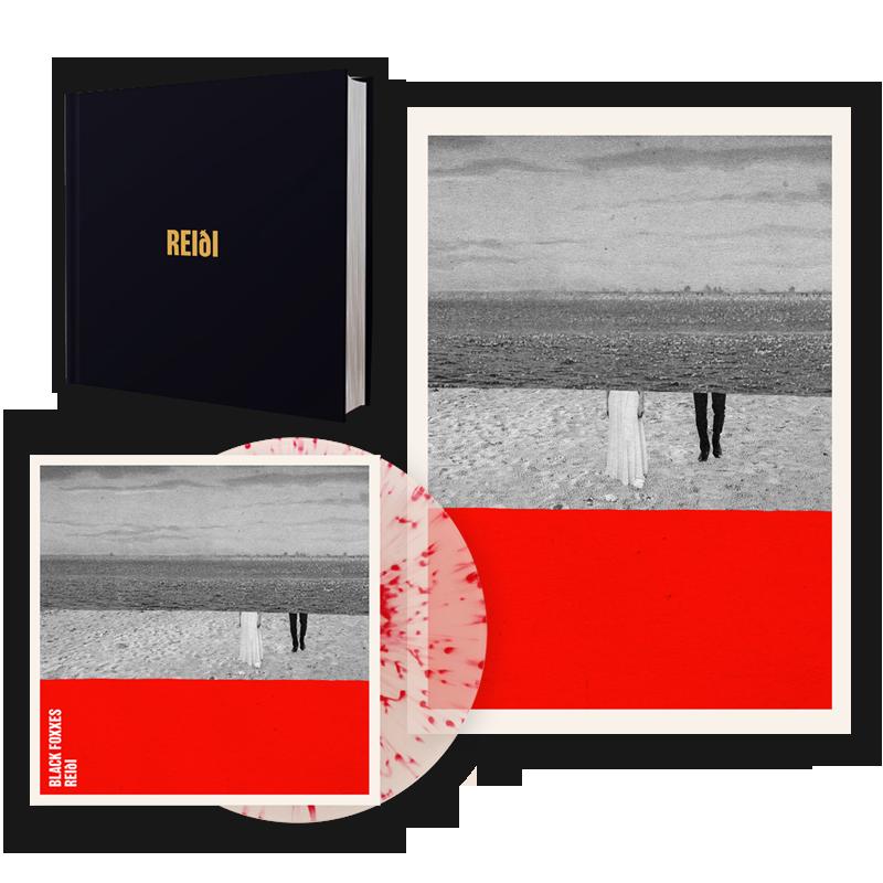 Buy Online Black Foxxes - reiði Red Splatter On Clear Vinyl LP (Signed) + A2 Litho Print + Deluxe Lyric / Photo Book