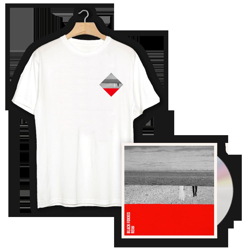 Buy Online Black Foxxes - reiði CD Album (Signed) + Album Pocket Print T-Shirt