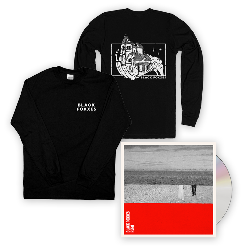 Buy Online Black Foxxes - reiði CD Album + Long Sleeve T-Shirt