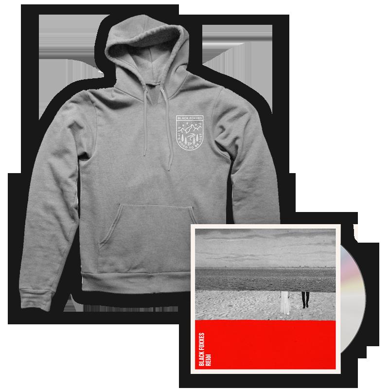 Buy Online Black Foxxes - reiði CD Album (Signed) + Grey Hoody