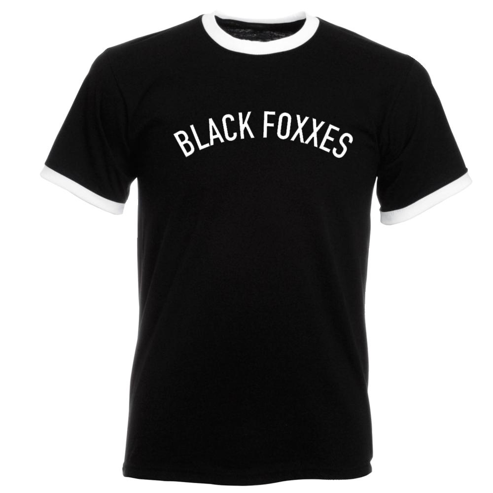 Buy Online Black Foxxes - Ringer tee
