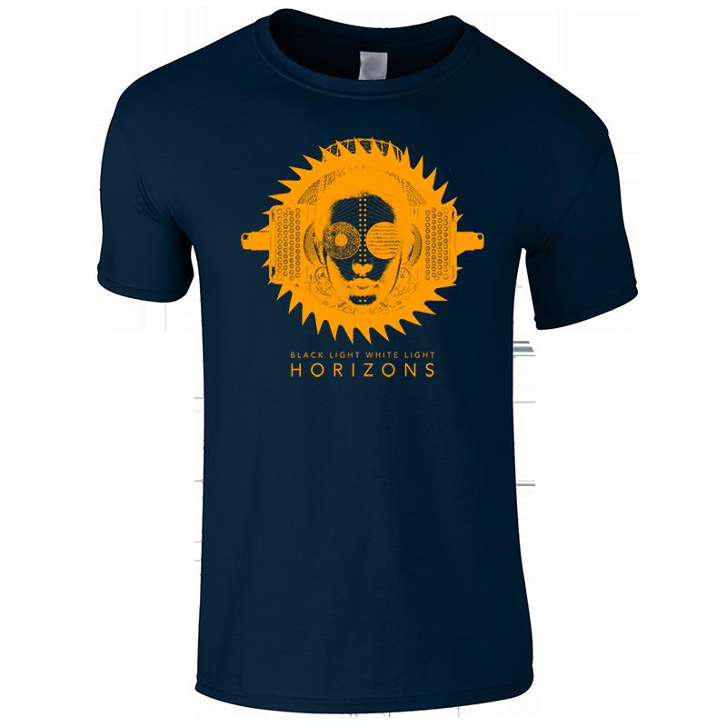 Buy Online Black Light White Light - HORIZONS: Navy T-Shirt