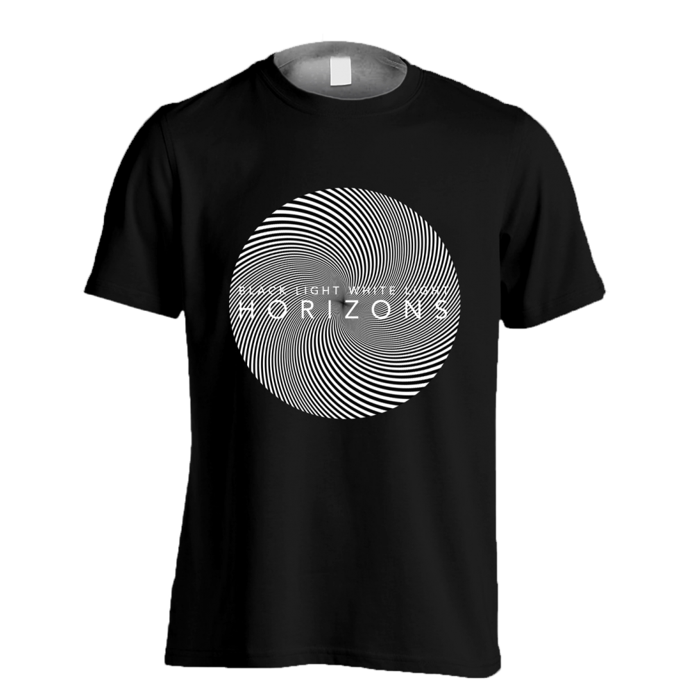 Buy Online Black Light White Light - HORIZONS: Black T-Shirt