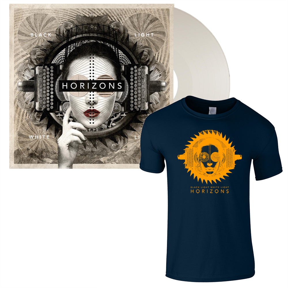 Buy Online Black Light White Light - HORIZONS: White Vinyl LP Album + Navy T-Shirt
