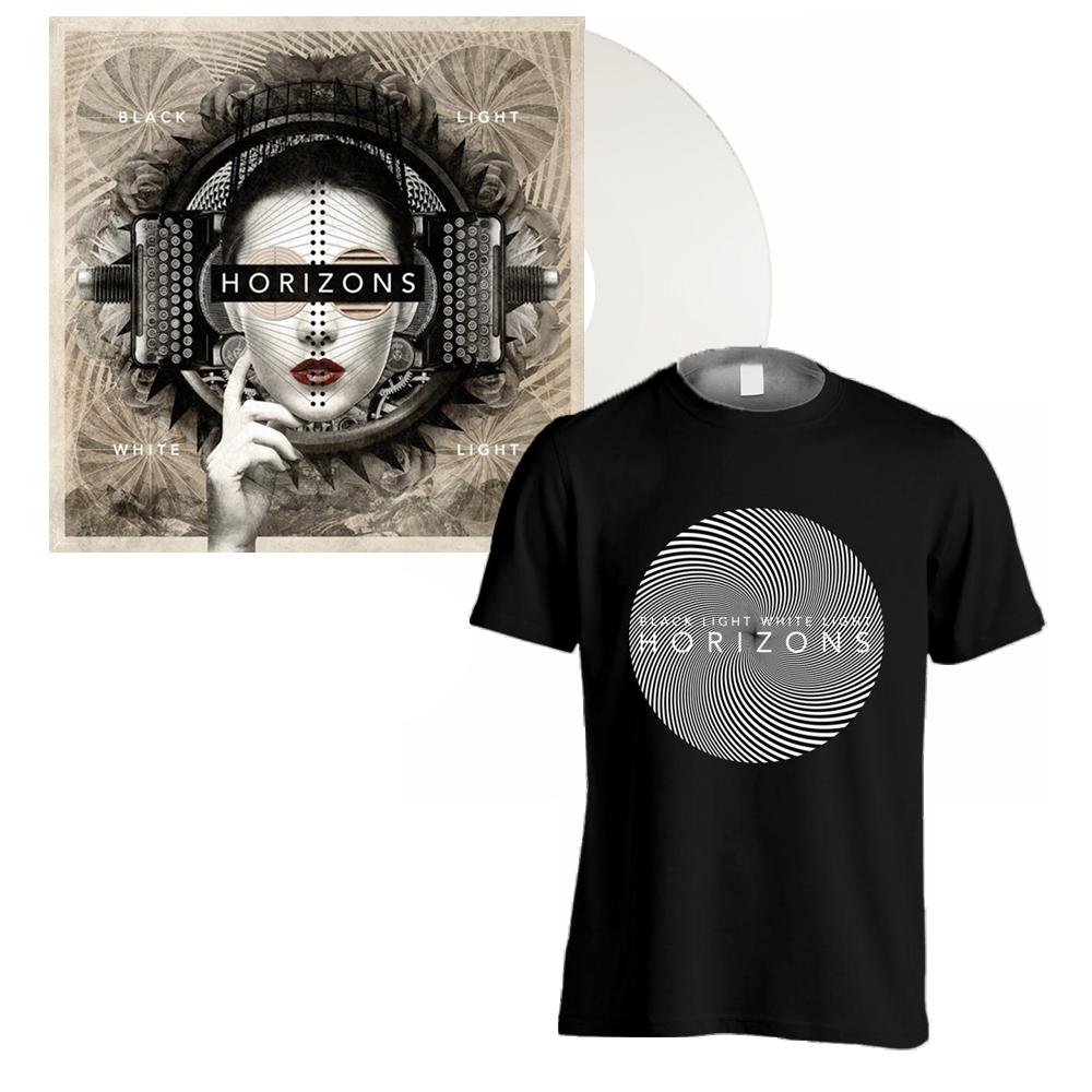 Buy Online Black Light White Light - HORIZONS: White Vinyl LP Album + Black T-Shirt