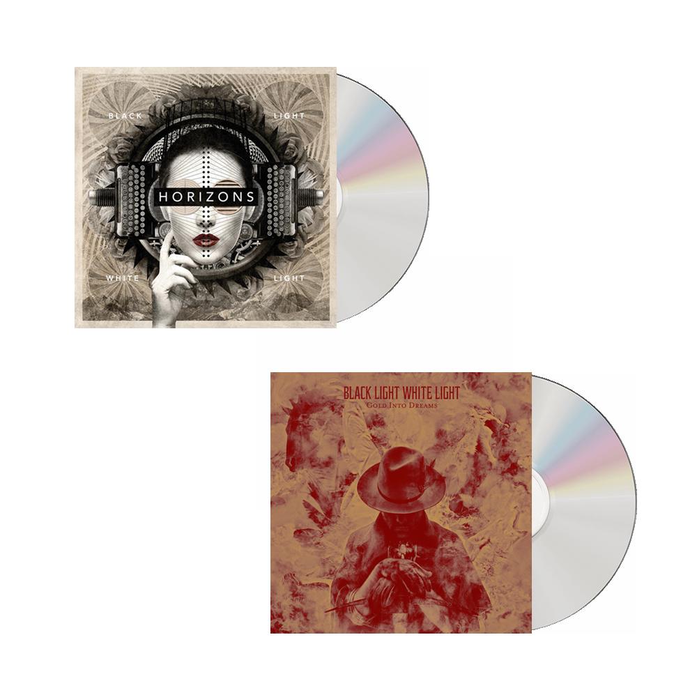 Buy Online Black Light White Light - HORIZONS + GOLD INTO DREAMS : CD Digipack Bundle