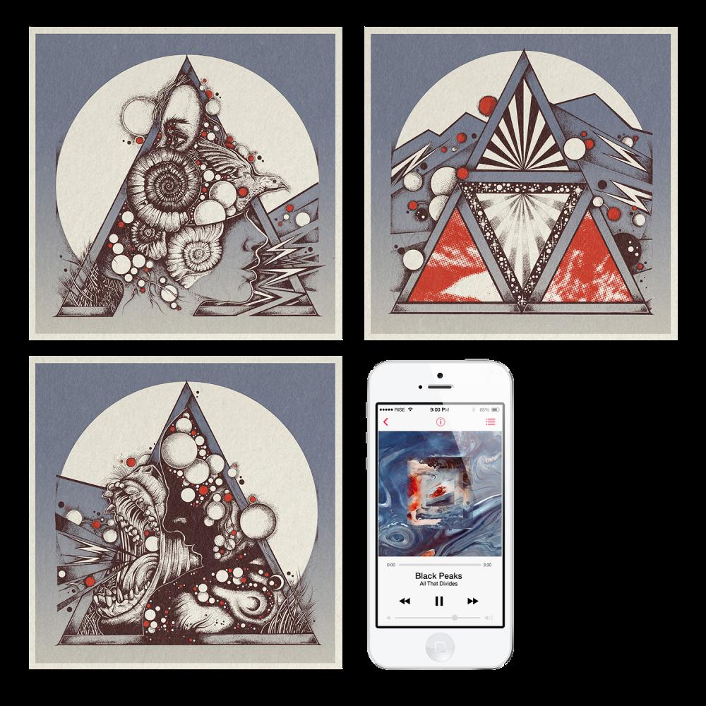 Buy Online Black Peaks - All That Divides Digital Album + Screen Print Collection