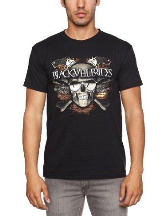Buy Online Black Veil Brides - Skull Men's T-shirt Black