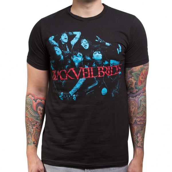 Buy Online Black Veil Brides - Blue Men's Slim T-Shirt Black