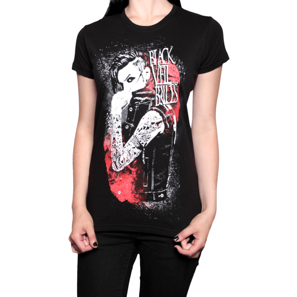 Buy Online Black Veil Brides - Inferno Girls T-Shirt Black