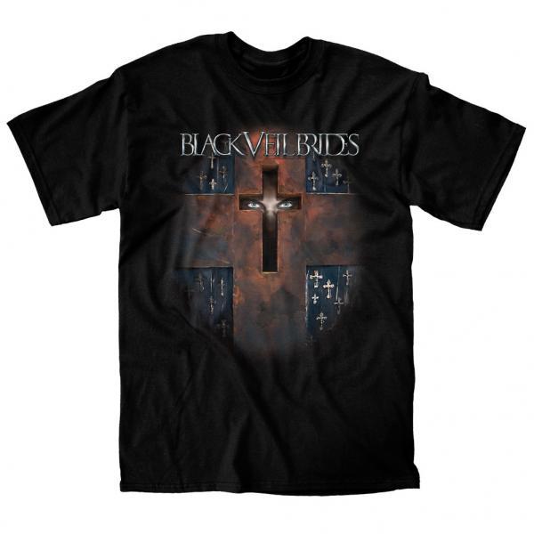 Buy Online Black Veil Brides - Coffin Slim Fit Black T-Shirt