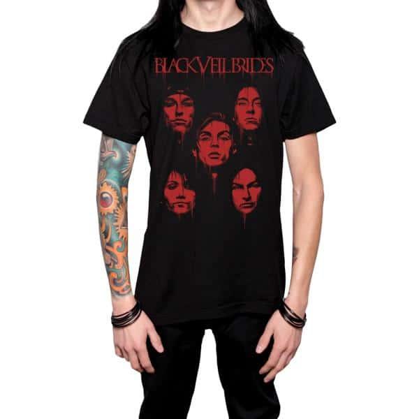 Buy Online Black Veil Brides - Blood Faces T-Shirt