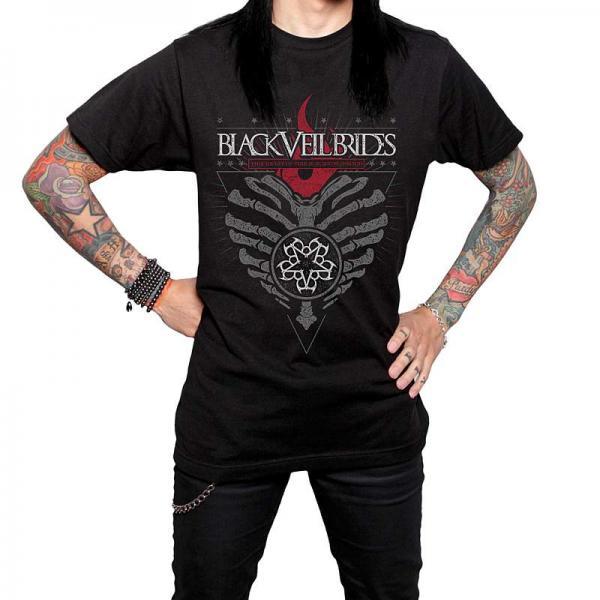 Buy Online Black Veil Brides - Burning Heart Guys T-Shirt