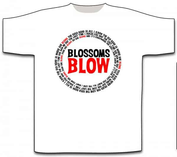 Blossoms Blow White T-Shirt