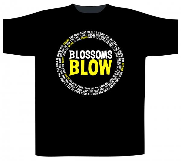 Blossoms Blow Black T-Shirt
