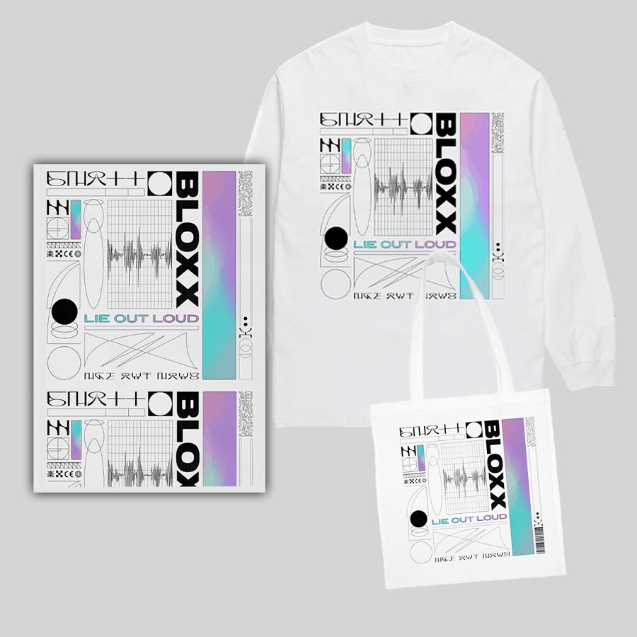 Buy Online Bloxx - Lie Out Loud Long Sleeve T-Shirt + Tote Bag + A3 Artwork Print (Signed)