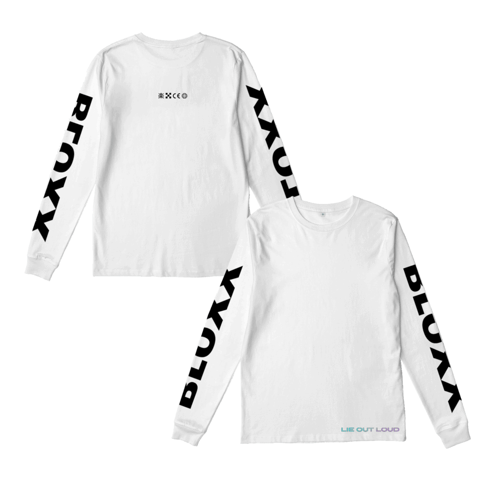 Buy Online Bloxx - Bloxx White Long Sleeve T-Shirt (with sleeve print)