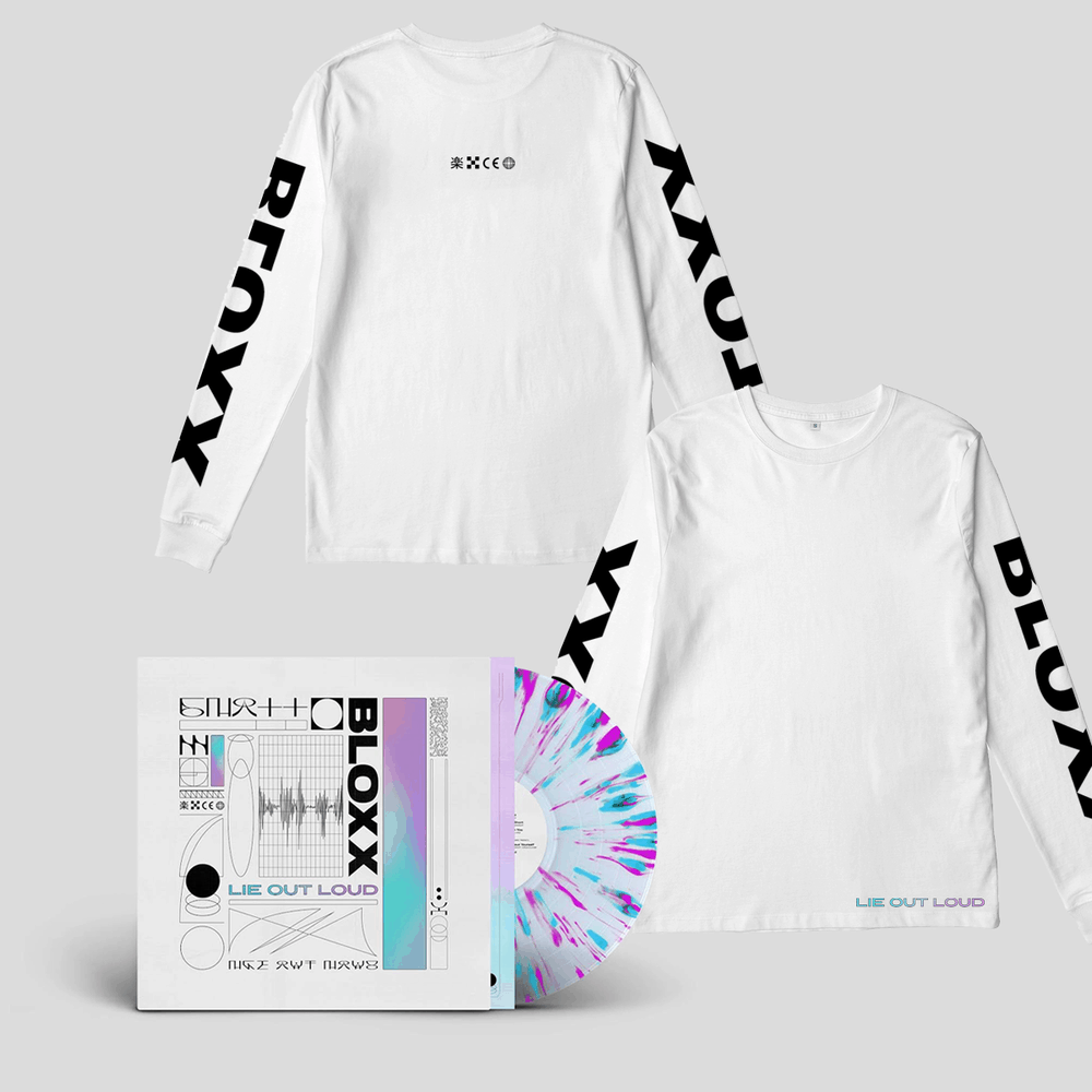 Buy Online Bloxx - Lie Out Loud Splattered Vinyl + Bloxx White Long Sleeve T-Shirt (with sleeve print)