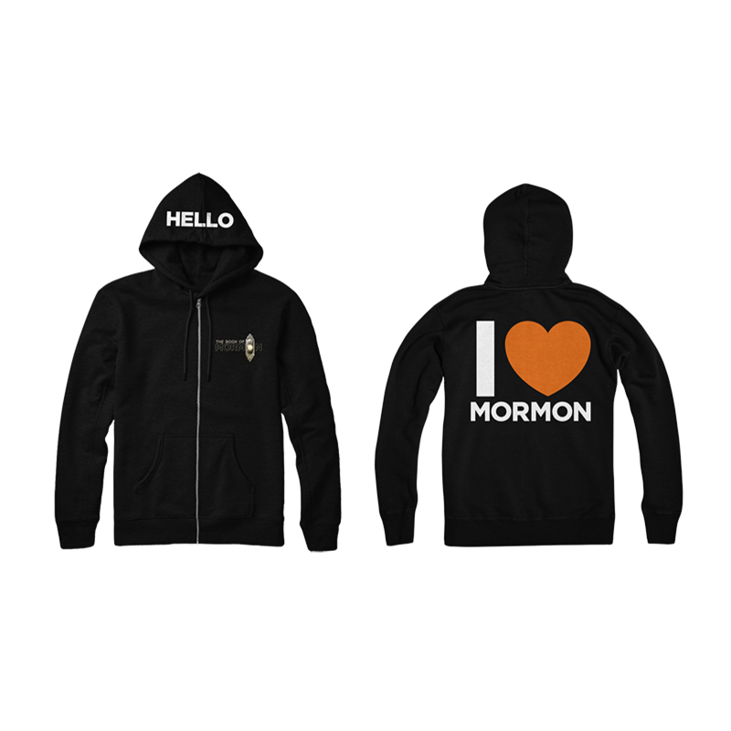 Buy Online Book Of Mormon - I Heart Mormon Hoodie