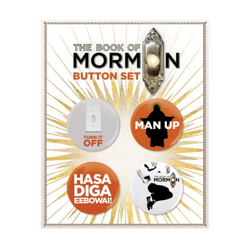 Buy Online Book Of Mormon - Button Card Set