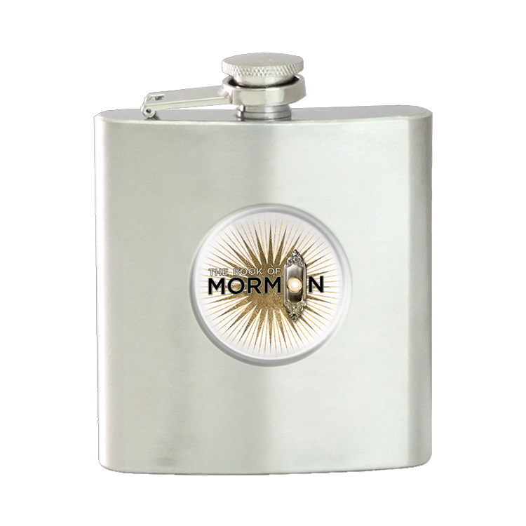 Buy Online Book Of Mormon - Logo Flask