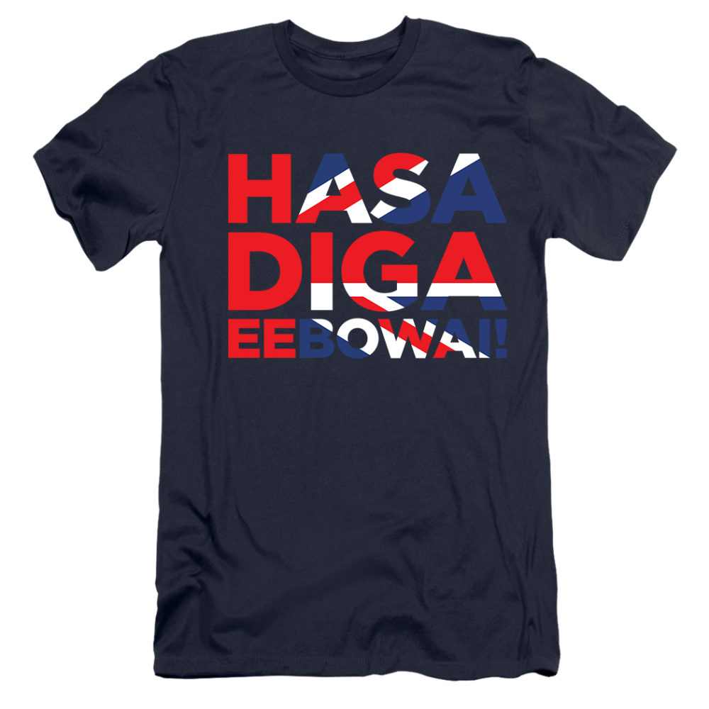 Buy Online Book Of Mormon - Hasa Diga Union Jack T-Shirt