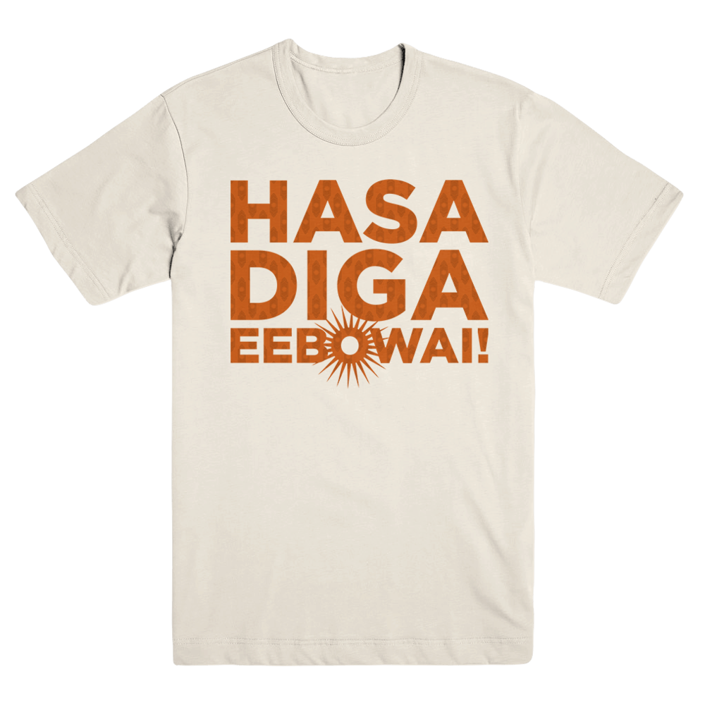 Buy Online Book Of Mormon - Hasa Diga Sunburst T-Shirt