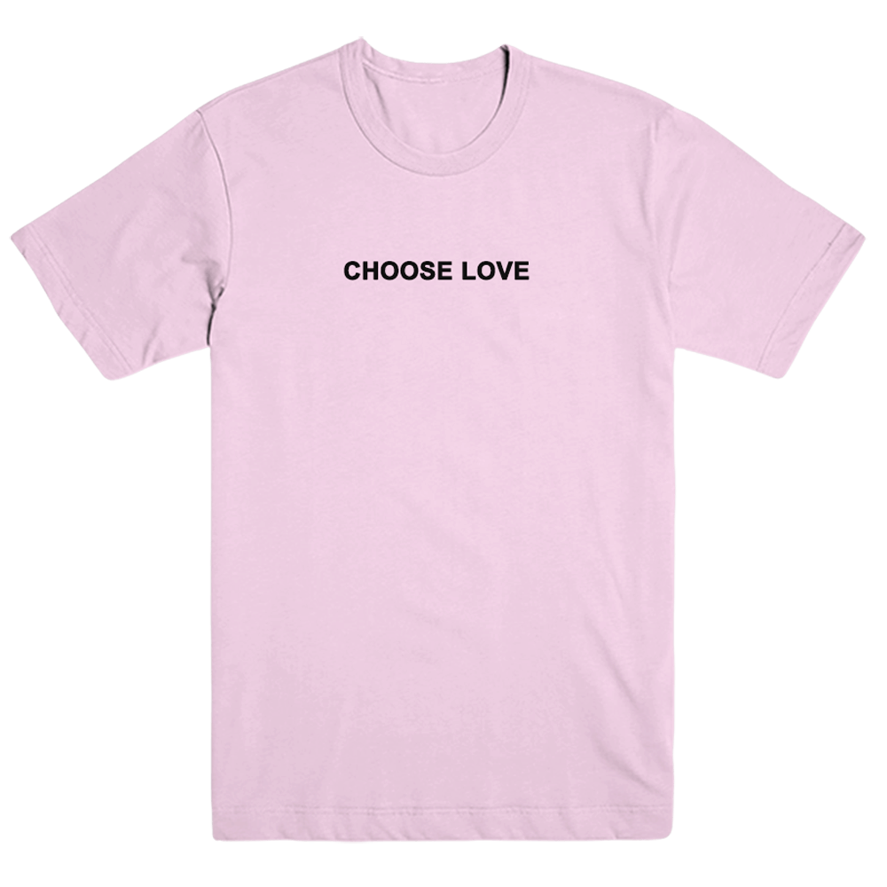 Buy Online Boston Manor - Choose Love T-Shirt (Pink Embroidered)