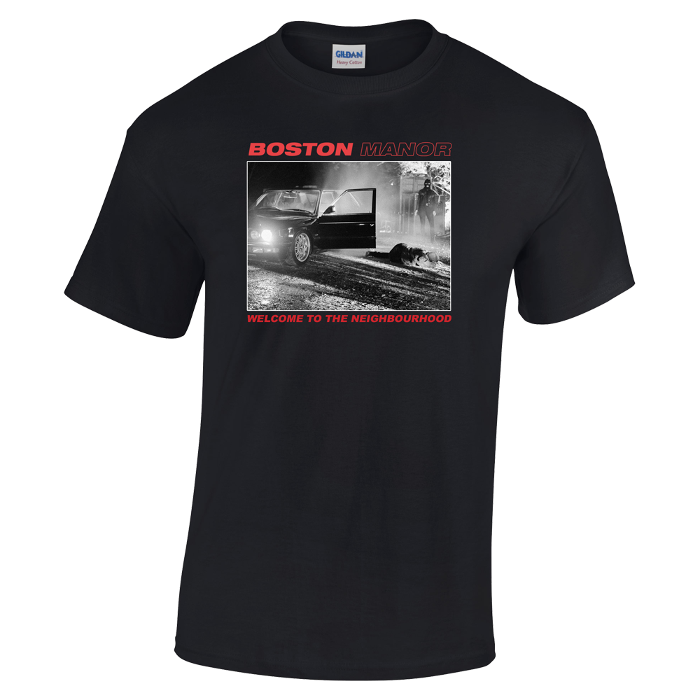 Buy Online Boston Manor - Welcome to The Neighbourhood T-Shirt