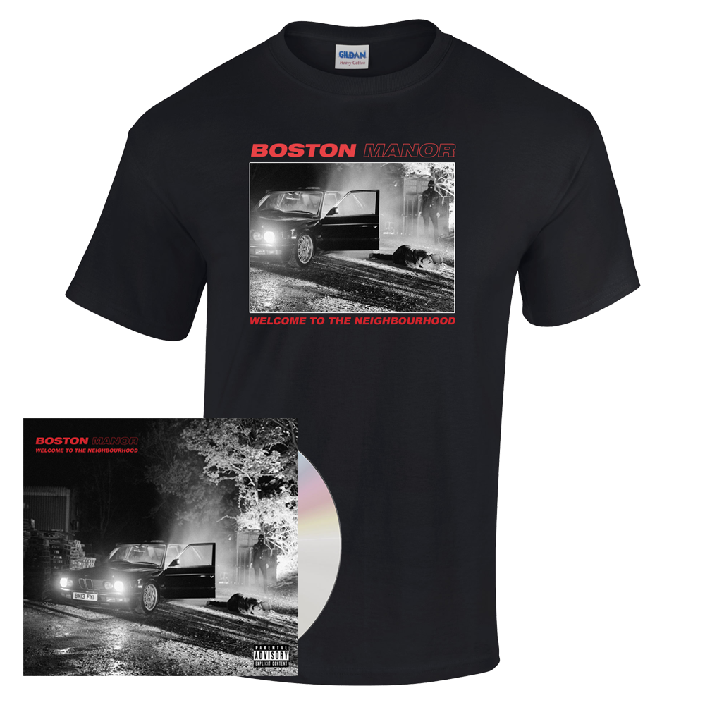 Buy Online Boston Manor - Welcome to The Neighbourhood CD - T-Shirt