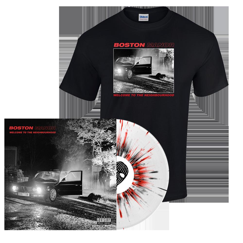 Buy Online Boston Manor - Welcome to The Neighbourhood Vinyl - T-Shirt
