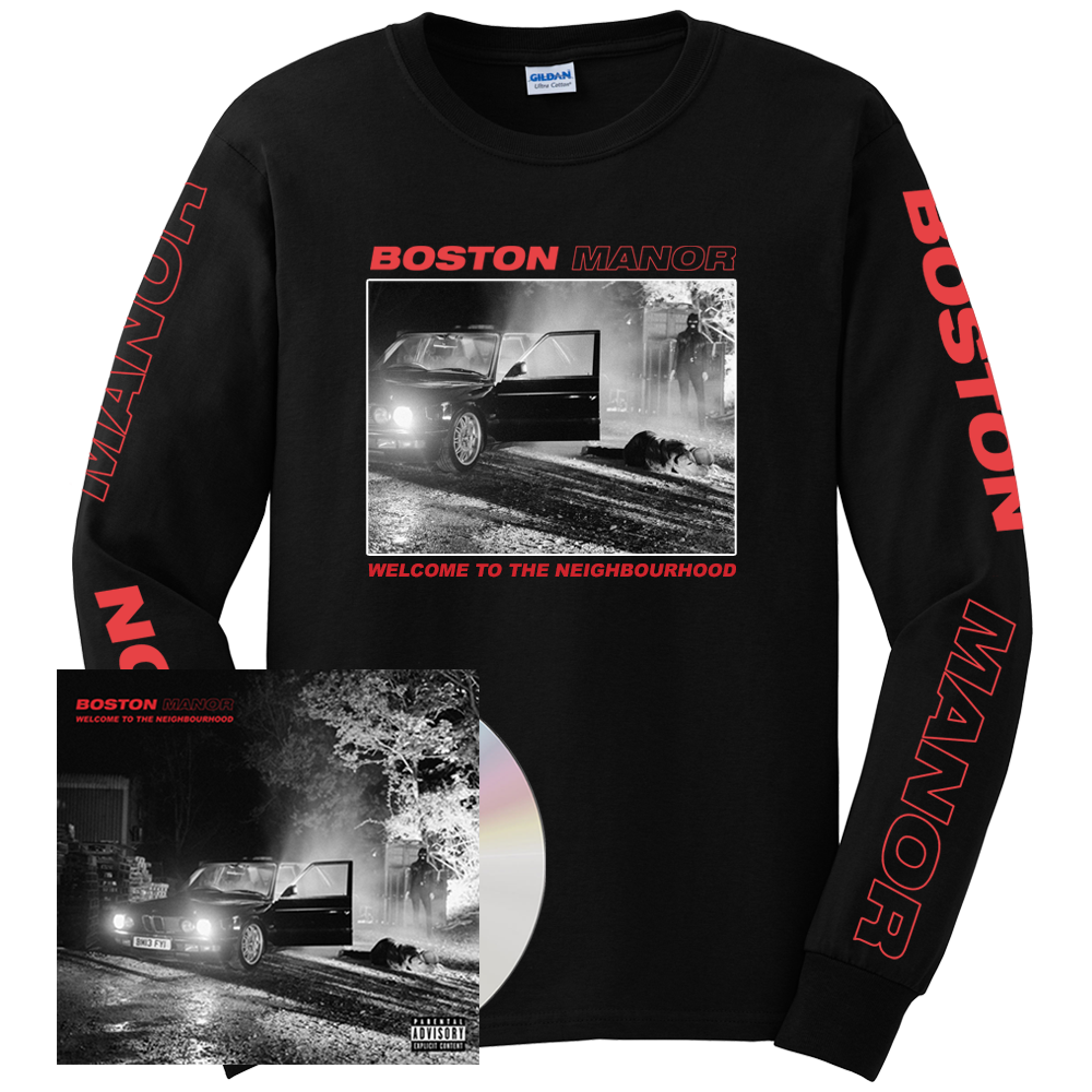 Buy Online Boston Manor - Welcome to The Neighbourhood CD (Signed) - Longsleeve
