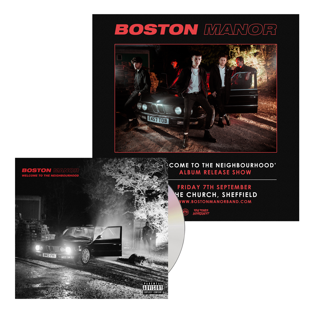 Buy Online Boston Manor - Welcome To The Neighbourhood - CD (Signed) + Album Release Gig Ticket