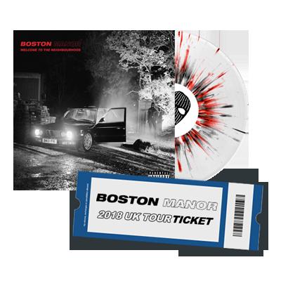 Buy Online Boston Manor - UK Tour Ticket + Welcome To The Neighbourhood Vinyl LP