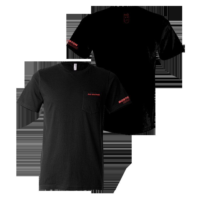 Buy Online Boston Manor - Bad Machine Embroidered T-Shirt