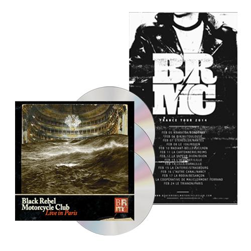 Buy Online Black Rebel Motorcycle Club - Live In Paris 2CD + DVD + Tour Poster