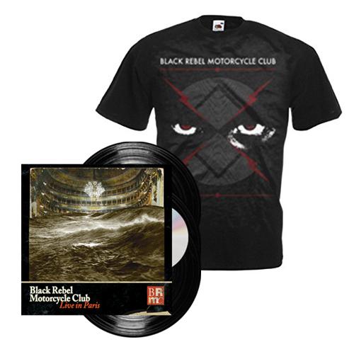 Buy Online Black Rebel Motorcycle Club - Live In Paris 3LP + DVD + T-Shirt