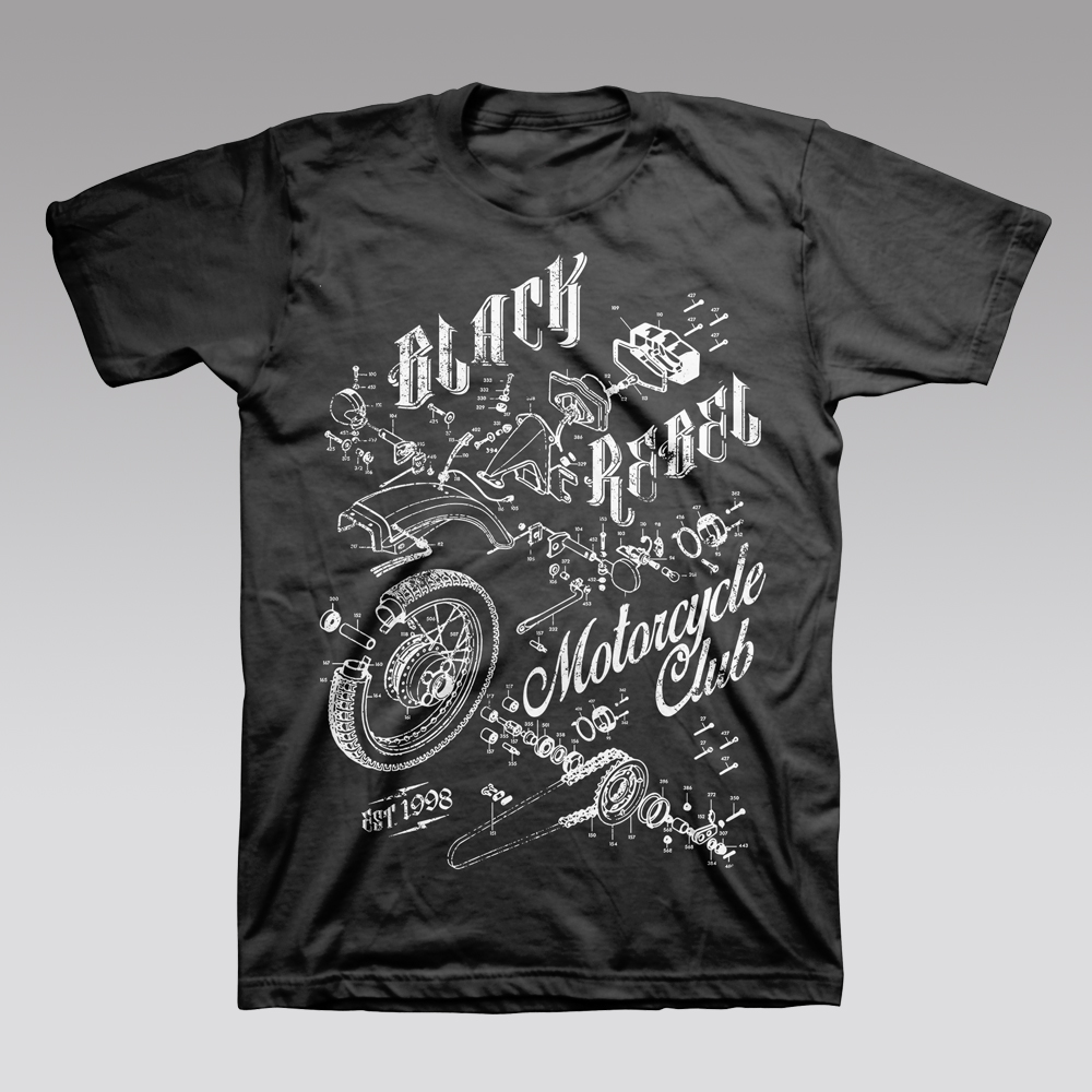 Buy Online Black Rebel Motorcycle Club - Moto T-Shirt
